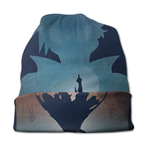 1005 Slouchy Knit Beanie for Men & Women - Winter Toboggan Hats for Cold Weather Team Gurren Lagann Beanie Cap Black