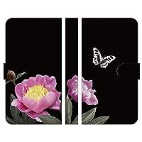 Ruuu arrows Be4 Plus F-41B 手帳型 スマートフォン スマホ ケース カバー 花柄 ブラック typeG スタンド付 携帯カバー 花 はな はながら 蝶々 黒 花束 ヴィンテージ フラワー 和柄 和テイスト 椿 つばき ピンク かっこいい 大人 目立つ おしゃれ ボタニカル ゴシック 可愛い 花がら キレイ アンティーク