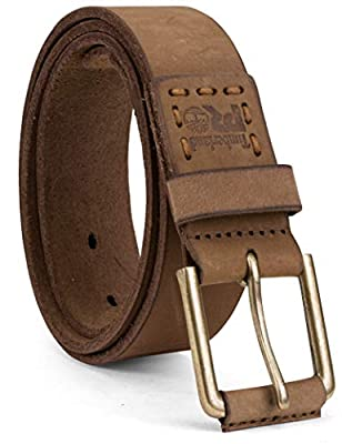 Timberland PRO Men's 40mm Workwear Leather Belt, Wheat/Pull Up, 40
