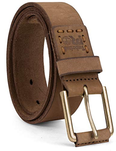 Timberland PRO Men's 40mm Workwear Leather Belt, Wheat/Pull up, 36