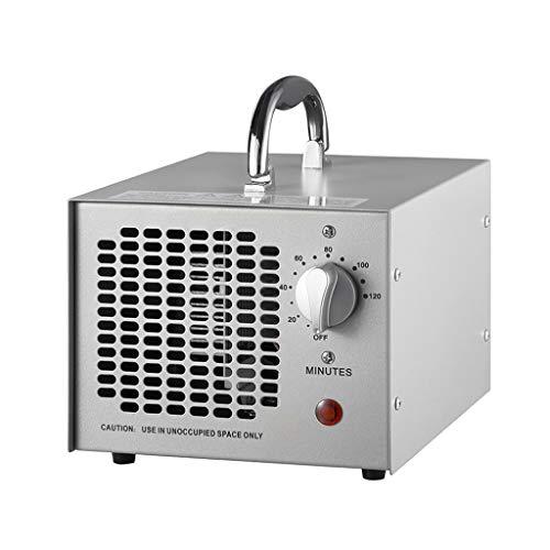 BBGS Generador de Ozono, Máquina Desodorante de Ozono (O3) para Viajes, Exteriores, Habitaciones, Mascotas, Automóviles Y Zapatero (Plata)