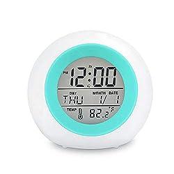 Image of Kids Digital Alarm Clock, 7...: Bestviewsreviews