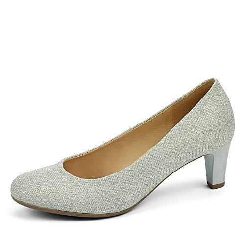 Gabor Fashion Pumps in Übergrößen Silber 41.400.61 große Damenschuhe, Größe:44.5