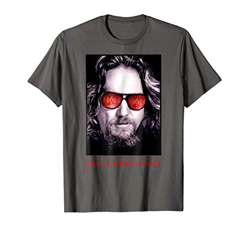 Big Lebowski Big Face Red Glasses Poster Graphic T-Shirt