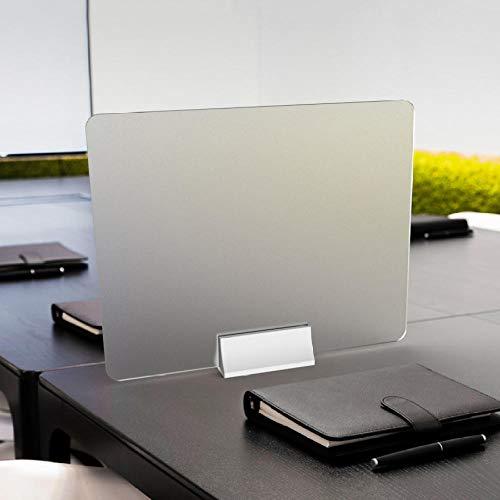 KDBEB Matt Corona Schutzscheibe Fuer Kassenbereich,50x40cm / 19.5x15.6in,Troepfchenschutz Plexiglas für Schönheitssalons Nagelstudios