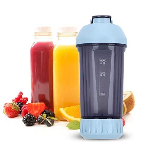 LSN Mini Agua Botella Portátil Arte Jugo Extractor Taza,Portátil Botellas Licuadora,Rodillo Cocina Mezcla Laminación Exprimidor a/A / 200x95x95mm
