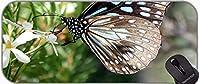 エクストラ大きなゲームマウスパッド、バタフライウィングス赤の昆虫翼自然オフィスマウスパッド