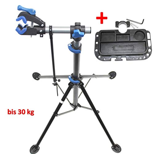 qm-basic Bike Repair Montageständer Fahrrad Reparatur Teleskop Stativ Ständer mit Schnellspanner 30 kg