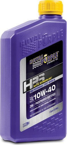 Royal Purple 31140 HPS 10W-40 High Performance Street Synthetic Motor Oil with Synerlec - 1 qt. by Royal Purple