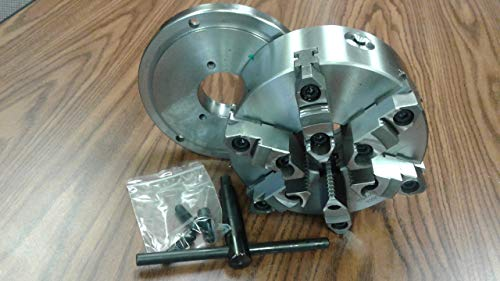 "5/"" 3 Jaw Self Centering Lathe Chuck w//Certificate TIR 1-1//2-8 Back Plate New"