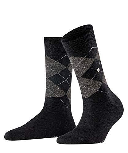 Burlington Damen Lurex Marylebone Socken, schwarz (Black 3003), Einheitsgröße (DE 36-41)