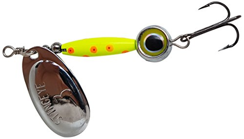 Thundermist Lure Company Eye#3-S-CO-SIL Stingeye Spinner Fishing Lure, Chartreuse