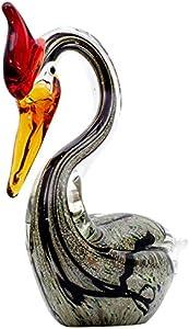 Aubaho Figura de Cristal Vidrio Cisne Estilo-Antiguo Estilo-Murano 23cm