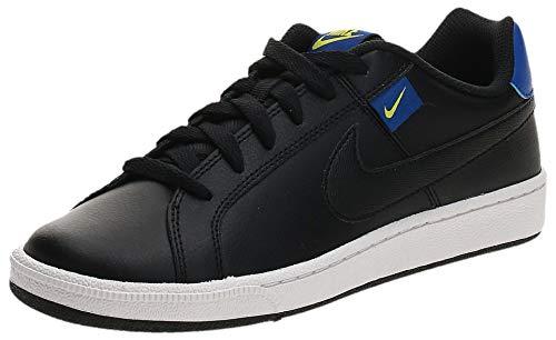 Nike Court Royale Tab, Zapatillas Hombre, Negro/Hyper Blue-Bright Cactus White, 40.5 EU