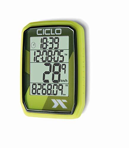 CICLO Unisex– Erwachsene PROTOS 105 Fahrradcomputer, grün, normal
