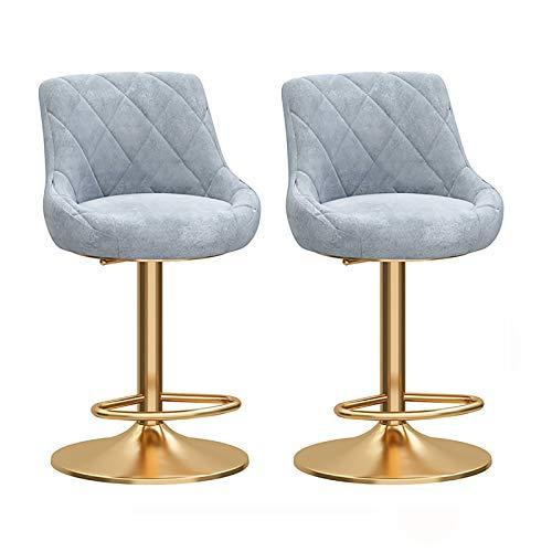 Set Di 2 Sgabelli Da Bar, Sedie A Stoccaggio Rotante A 360 °, Sgabelli Da Bar Presso La Reception, Sedie Da Pranzo A Casa, (H45-60 Cm), 7 Colori (Color : G)