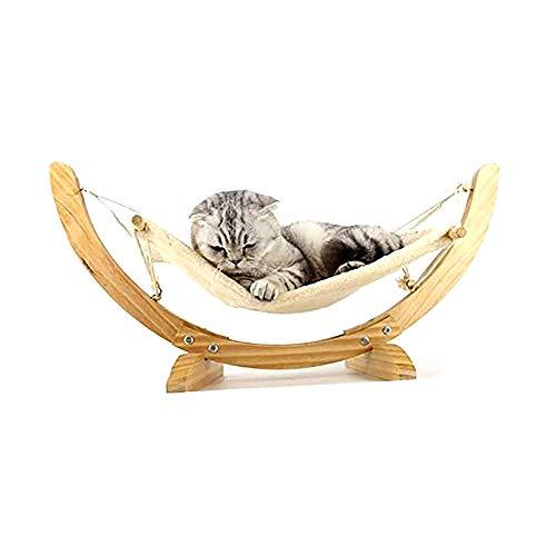 Dierbenodigdheden Kat En Hond Hangmat Nest Cat Schommel Hangmat Voor Katten Massief Houten Bed Afneembaar En Wasbaar Frame Deken Kleine Hond Vierkant Makkelijk Te Monteren