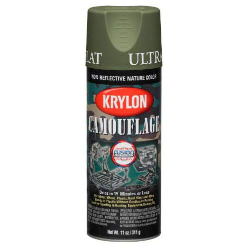 Krylon - Camouflage Paint with Fusion Technology (Woodland Light Green)