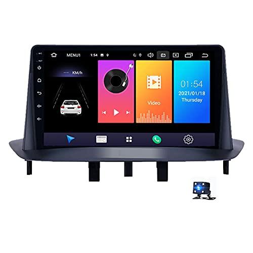 Android 10.0 Car Radio Reproductor De Pantalla Táctil, Para Renault Megane 3 2008-2014 Soporte Navegador GPS Bluetooth WIFI Reproductor Multimedia Navegación Estéreo Autoradio(Color:4G+WIFI 2G+32G)