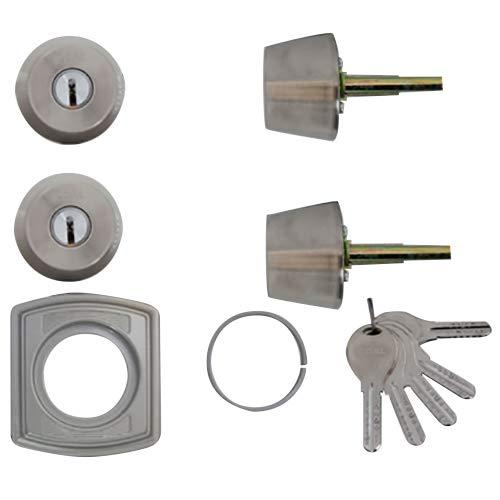 LIXIL(リクシル) TOSTEM ドア錠セット(GOAL V18シリンダー) ヘアーライン DCZZ1404