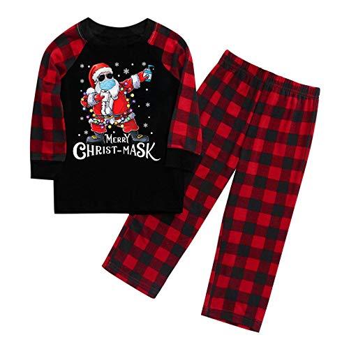 Ydwan Weihnachtspyjama eingestellt Frohe Weihnachten Kinder Fun-Nachtwäsche Bluse...