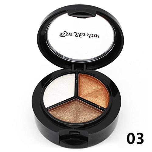 Paleta de Sombras de Ojos de 3 Colores - Paleta de Sombras de Ojos de 3 Colores Larga duración Todo Tipo de Piel Combinación Brillo Mate Pigmento Brillo Belleza Maquillaje Cosméticos Herramienta - 3#