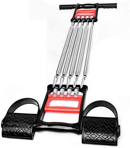 YISUNF Extensor de pecho, Aptitud pecho Expander en el pecho Expander for el hombre - Muscle Puller-5 resistencia del resorte del acero Tire varilla ajustable de múltiples funciones de equipo de la ap