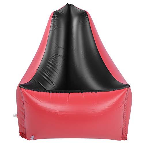 Aufblasbares Liegesofa, aufblasbares Lazy Couch Stuhl-Luftbett im Freien für Wasserpartys und Wassererholung, Faltbarer aufblasbarer Poolschwimmer, rot 85x85x85cm