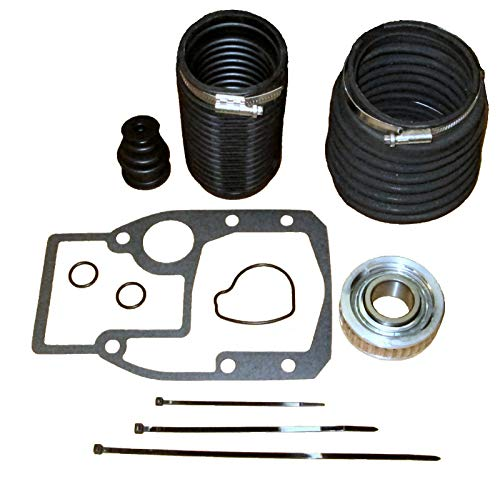 RPS OMC Cobra Sterndrive I/O transom Service Rebuild Repair kit with Bellows and Gimbal Bearing. Replaces 3854127, 914036, 911826