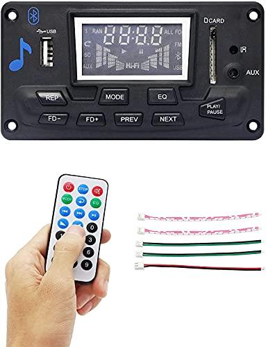 RIIEYOCA Tarjeta decodificador Bluetooth, sin pérdida Bluetooth 4.2 módulo de tarjeta decodificador compatible con tarjeta SD U-Disk FM AUX, llamada manos libres sin pérdida módulo de audio