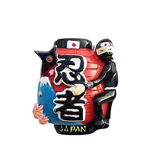 Japanische Ninja-Laterne, 3D-Souvenir, Kühlschrankmagnet, Geschenk, Kunstharz, handgefertigt, Heim- und Küchendekoration, japanischer Kühlschrankmagnet, Magnetkollektion