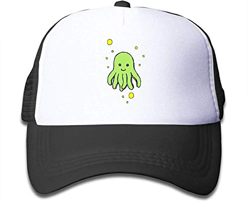 Interesting Green Octopus Sun Mesh Back Cap Trucker Baseball Hats for Boys Comfortable10925