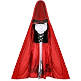JklausTap Adult Rotkäppchen Cape Mantel Kostüm Damen Lady Halloween Party Kostüm Neu