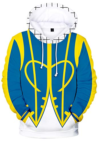Kids Boys 3D Print Anime Fairy Tail Character Long Sleeve Hoodies Cosplay Costume Jacket for Winter, Lucy/XXL