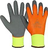 10 Paar Hase Safety Gloves Superflex Thermo+ Winter-Arbeitshandschuhe wasserdicht, Latex-Winterhandschuhe gefüttert Größe XL (10)