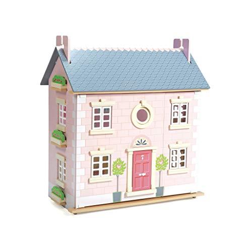 Papo Le Toy Van - Gran casa de muñecas de Madera (2 Plantas, 61 x 35 x 67 cm), Color Rosa