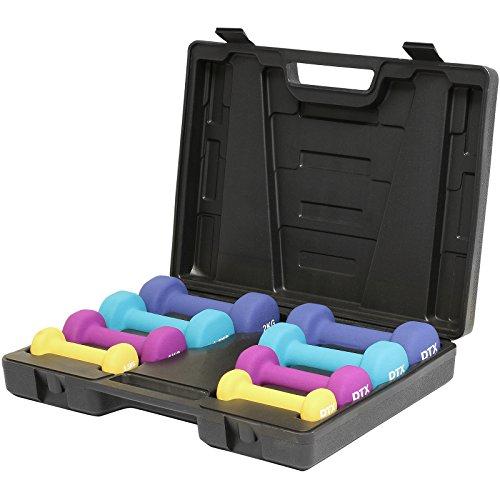 DTX Fitness - Aerobic Hantelset mit Koffer - Hanteln für Anfänger - 10 kg