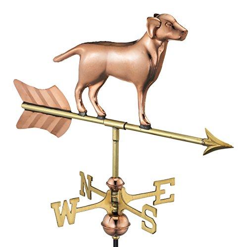 Good Directions 810PG Wetterfahne Labrador Retriever/Hund inkl. Gartenstange, reines Kupfer