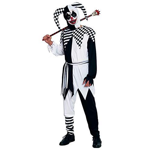 Disfraz Bufón Negro para Hombre Halloween (Talla L) (+ Tallas)