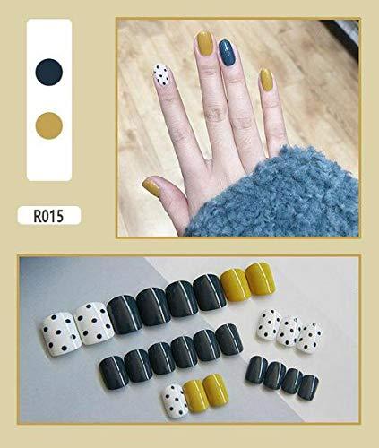 DKHF Valse nagels Nepnagels Afgewerkte Nagelstickers Creatief Niet gemakkelijk te laten vallen Nepnagels Draag Nagelstickers