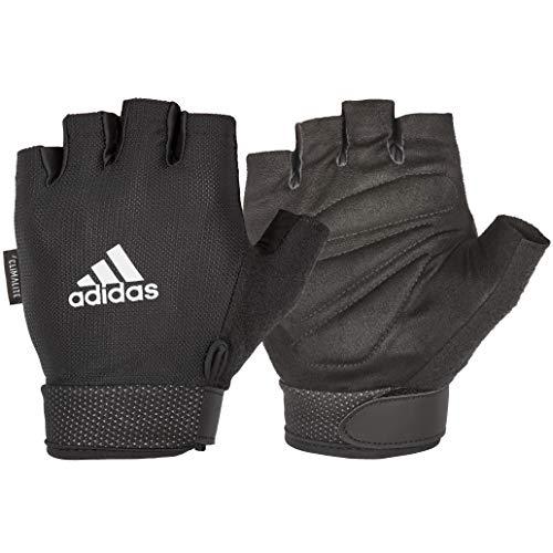 adidas Unisex-Erwachsene Essentielle verstellbare Handschuhe Trainingshandschuhe, Schwarz, Large (20-21.5 cm)