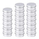 Tarros de Aluminio, 20 Piezas Latas de Aluminio Recipiente Redondo de Aluminio para Almacenar Especias, Dulces, te o Regalos