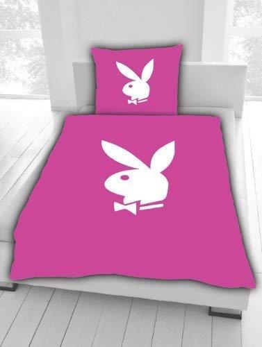 Bettwäsche Playboy Bunny pink Bunny 135 x 200 cm NEU WOW