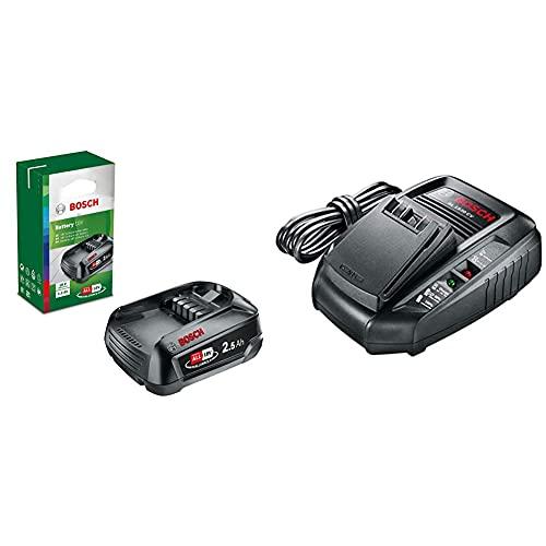 Bosch 18V Ersatz Akku PBA 18 (18 Volt System, 2,5 Ah) + Schnellladegerät (14,4 Volt System, 18 Volt System)