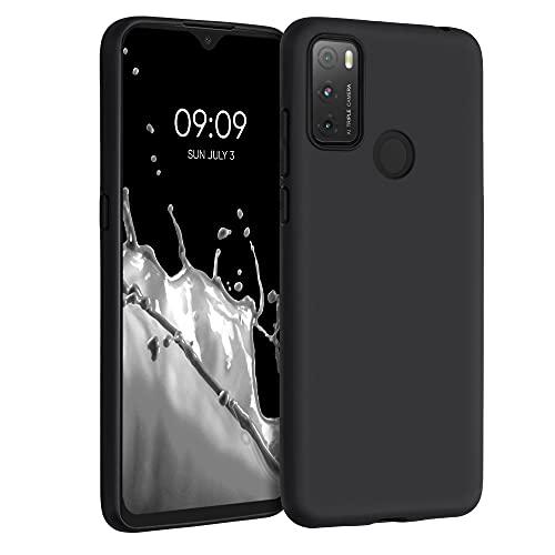 kwmobile Hülle kompatibel mit Alcatel 3L (2021) - Hülle Silikon - Soft Handyhülle - Handy Hülle in Schwarz