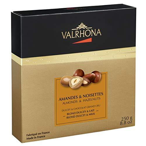 Valrhona - Amandes & Noisettes - Blond Dulcey & Grand Cru Chocolat Lait - 250g