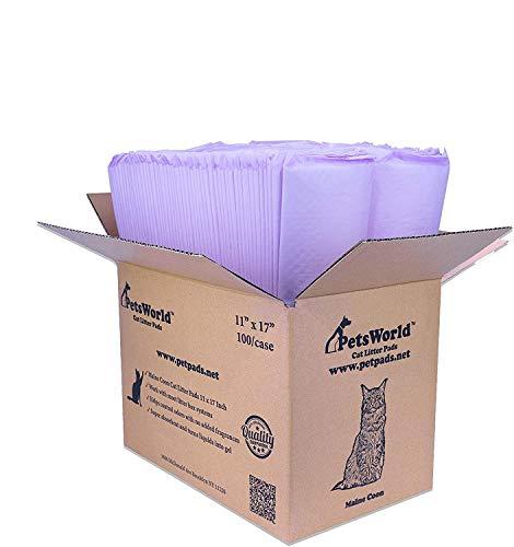 PETSWORLD Cat Pad Refills for Tidy Cats Breeze Litter System (100 Pads)