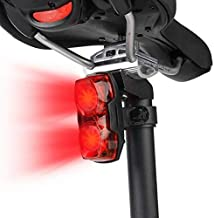 Inditradition Bicycle 2-in-1 Flash Tail Light   Inbuilt 2 Laser & 5 LEDs, Multi-Functional 7 Modes (Red)
