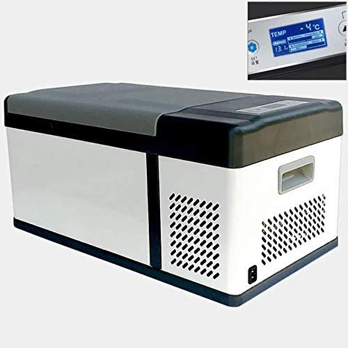 SSLL Elektrische compressor-koelbox met 15 liter inhoud, 24 V/12 V/220-240 V, mini-koelkast, voor bierkratten, warmhoudbox, campingkoeling, koelbox, draagbare thermo-verwarmingsbox voor auto Home