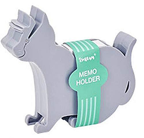 デスクオーガナイザー オーガナイザー デスク メモ ホルダー メモホルダー メモクリップ クリップ 猫 北欧 (グレー)